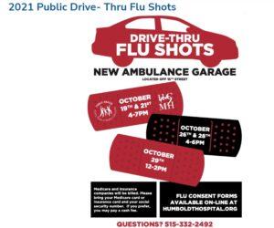 2021 Public Drive- Thru Flu Shots -HCMH